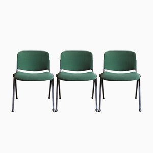 Stacking Chairs from S&H, 1970s, Set of 3