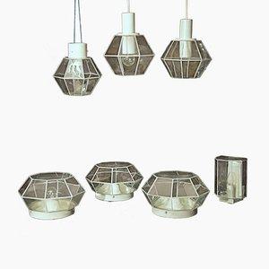 Lámparas diamante de Limburg, años 60. Juego de 7