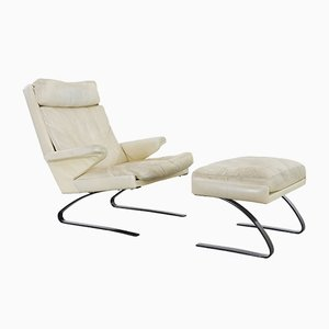 Swing Lounge Chair & Ottoman by Reinhold Adolf & Hans-Jürgen Schröpfer for Cor, 1972
