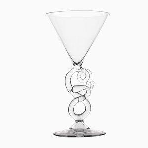 Bicchiere da Martini dalla collezione Serpentine di Simone Crestani