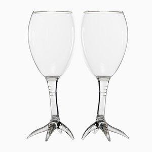 Calici dalla serie Gajna Wine di Simone Crestani, set di 2