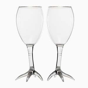 Goblets from the Gajna Wine Series by Simone Crestani, Set of 2