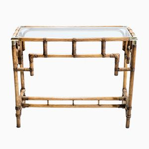Console in Bamboo and Brass, 1970s
