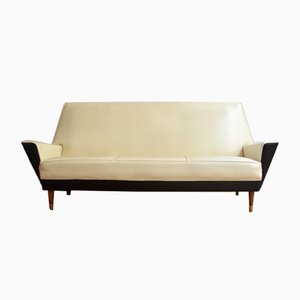 Skai & Wood Sofa from Medal, 1950s