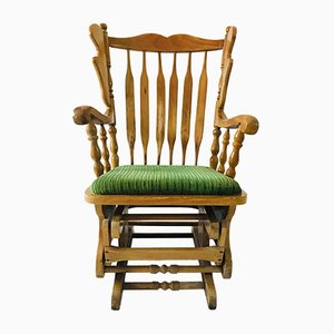 Rocking Chair avec Ottomane, Italie, 1960s