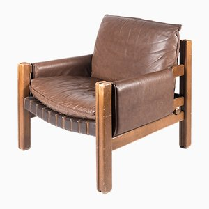 Wooden Armchair from TON, 1989