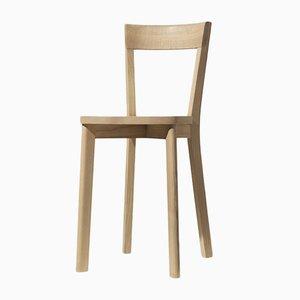 Chaise de Salle à Manger Mina Teinté Chêne Naturel par Tommaso Caldera pour WLegno