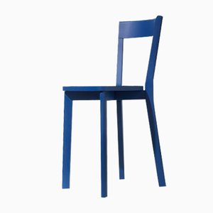 Mina Dining Chair in Blue by Tommaso Caldera for WLegno