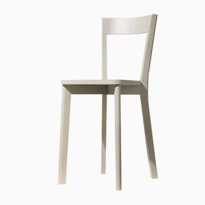 Sedia da pranzo Mina grigia di Tommaso Caldera per WLegno