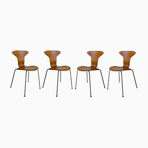 Mosquito Chairs by Arne Jacobsen for Fritz Hansen, 1960s, Set of 4