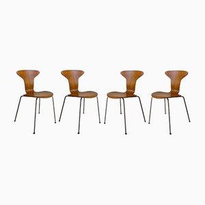 Mosquito Chairs von Arne Jacobsen für Fritz Hansen, 1960er, 4er Set