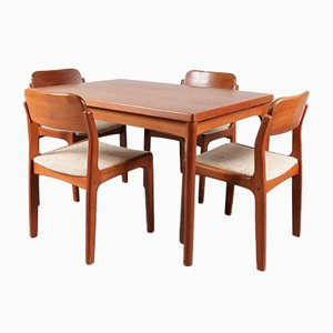 Scandinavian Dining Set by Henning Kjærnulf for Vejle Mobelfabrik, 1960s