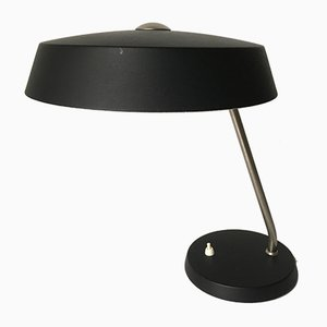 Lampada da scrivania nera di Louis Kalff per Philips, Paesi Bassi, anni '60