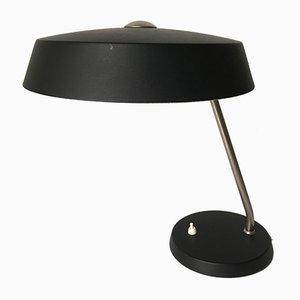Niederländische schwarze Schreibtischlampe von Louis Kalff für Philips, 1960er
