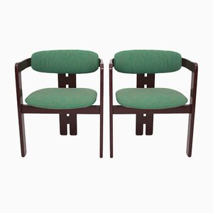 Model Pigreco Green Armchairs by Tobia Scarpa for Gavina, 1957, Set of 2