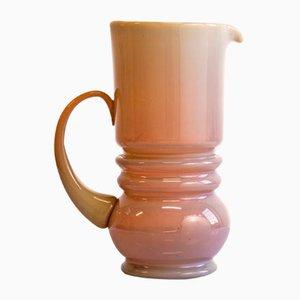 Krug aus lachsfarbenem Glas von Zbigniew Horbowy für Huta Polanica Zdrój, 1970er