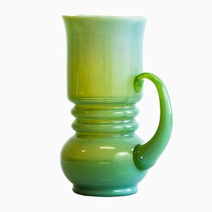 Jug in Malachite Green Glass by Zbigniew Horbowy for Huta Polanica Zdrój, 1970s