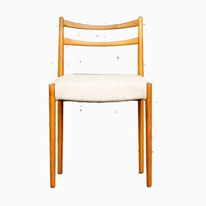 Minimalist Mid-Century Chair in Cherrywood & Wool