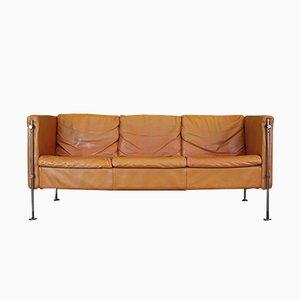 Vintage Italian Model Felix Tan Leather Sofa by Burkhard Vogtherr for Arflex, 1980s