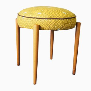 Mid-Century German Stool in Yellow