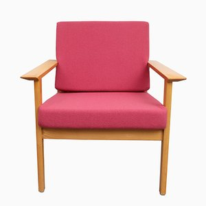 Mid-Century German Armchair in Pink, 1960s