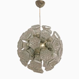 Mid-Century Crystal Sputnik Chandelier from Venini