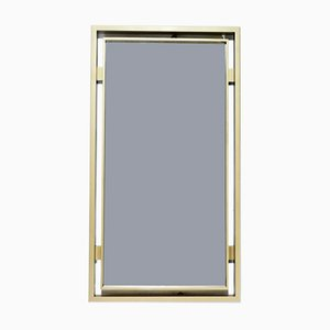 Brushed Brass Mirror by Guy Lefevre for Maison Jansen, 1970s