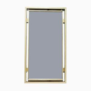 Espejo de latón cepillado de Guy Lefevre para Maison Jansen, años 70