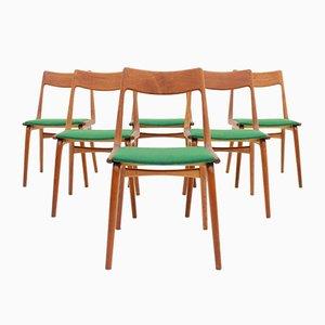 Boomerang Chairs in Teak by Eric Christensen for Slagelse Møbelværk, 1950s, Set of 6