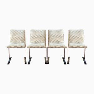 Esszimmerstühle von Giovanni Offredi für Saporiti Italia, 1970er, 4er Set