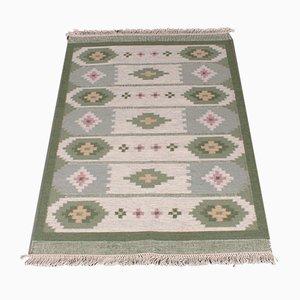 Handgearbeiteter Mid-Century Flachgewebe Rölakan Teppich, 1960er