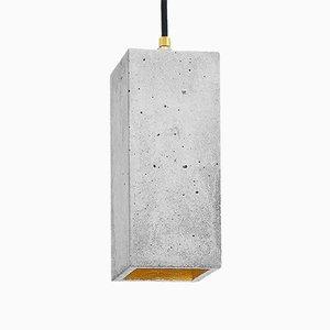 Lampe à Suspension [B2] Rectangulaire en Béton & Or par Stefan Gant pour GANTlights