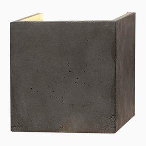 Applique Murale [B3] Cubique en Béton Foncé & Or par Stefan Gant pour GANTlights