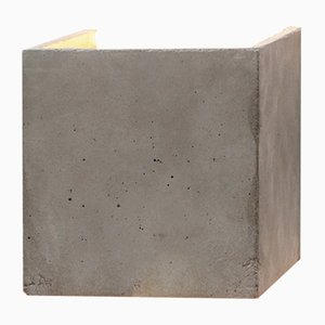 Cubic [B3] Wall Light in Concrete & Gold by Stefan Gant for GANTlights