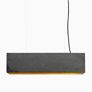 Rechteckige [B4] Wandlampe aus dunklem Beton & Gold von Stefan Gant für GANTlights