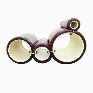 Poltrona Tube vintage viola di Joe Colombo per Flexform