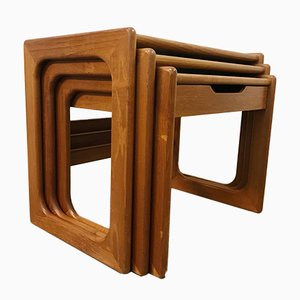 Mid-Century Teak Nesting Tables from Salin Nyborg