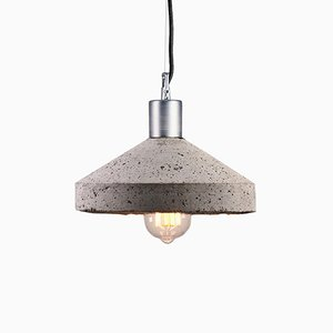 Grey Concrete Rocket Ceiling Lamp by Bogumił Gala for Galaeria Factory