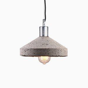 Lampada da soffitto Rocket in cemento di Bogumił Gala per Galaeria Factory