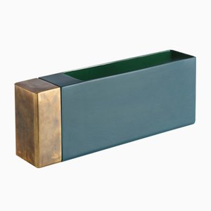 Petroleum Green Brass Vase by Jurgen Bey for Bitossi