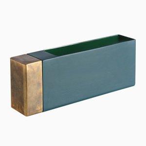Vase en Laiton Vert Pétrol par Jurgen Bey pour Bitossi