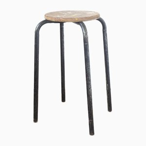 Vintage High Black Industrial Stool