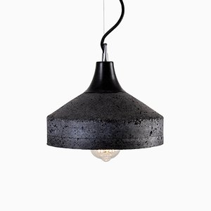 Vulcano Lampe aus grauem Zement von Bogumił Gala für Galaeria