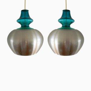 Lámparas colgantes Carthago de Raak, años 70. Juego de 2