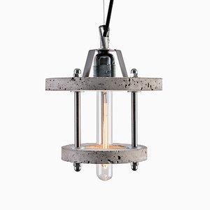 Lampada Levels 2BA in cemento grigio di Adrian Purgał per Galaeria Factory