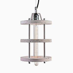 Levels 3B Lampe aus grauem Zement von Adrian Purgał