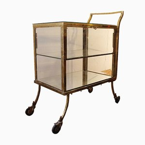 Golden Brass Trolley with 2 Doors, 1940s
