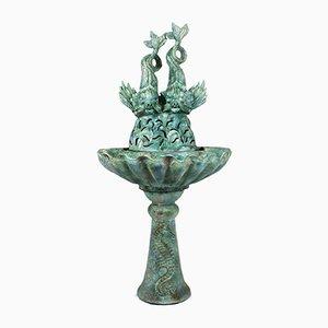Fuente de cerámica esmaltada de Les Fontaines de Provence, años 40