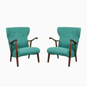 Mid-Century Armchairs, Set of 2