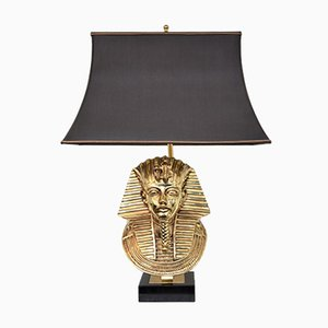 Hollywood Regency Pharaoh Table Lamp by Maison Jansen for Deknudt, 1970s